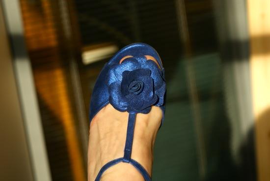 chaussure bleu électrique