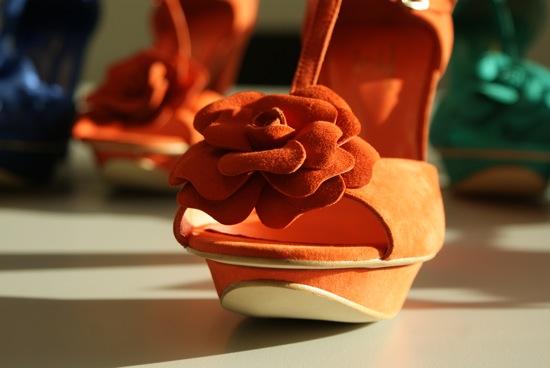 chaussures oranges