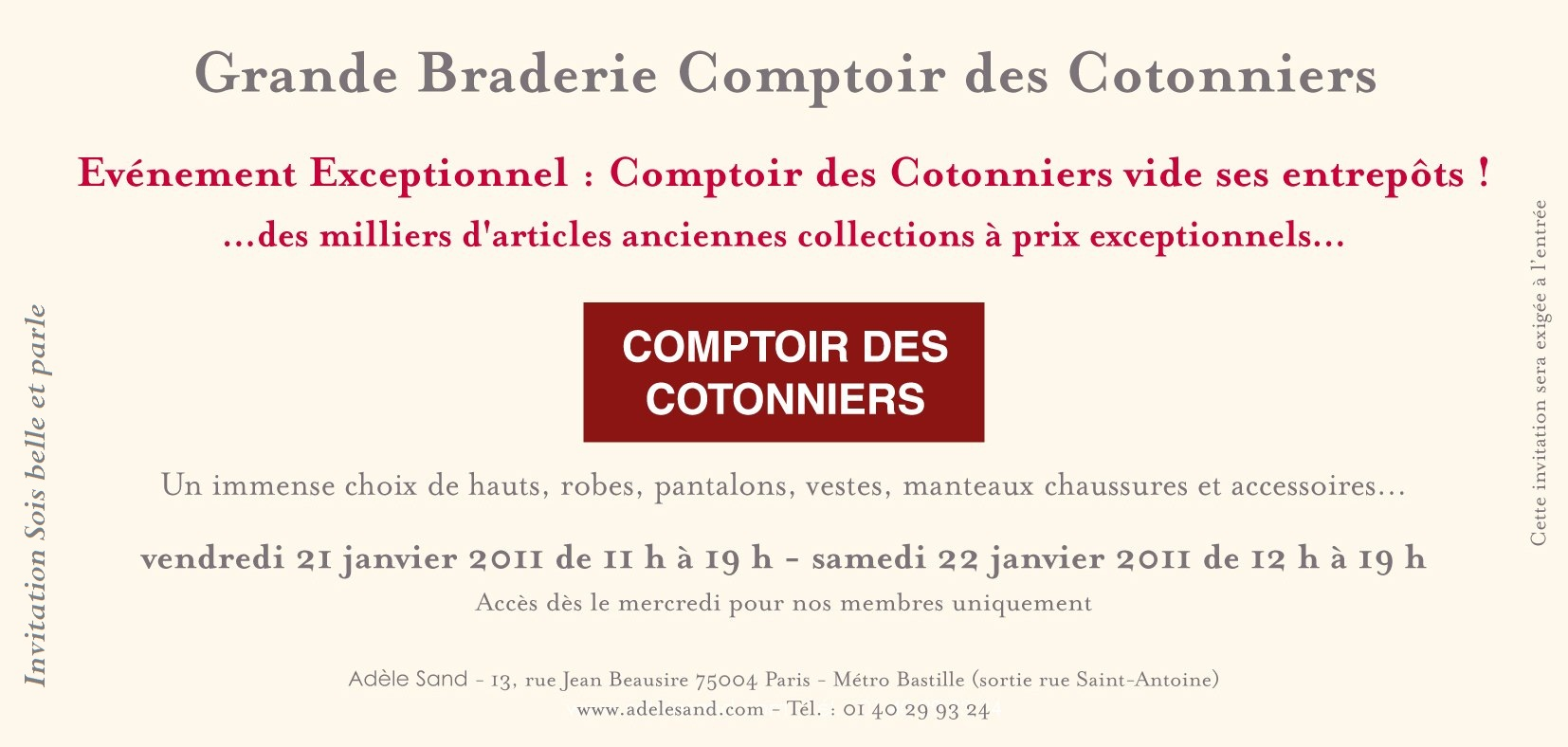 Braderie comptoir des cotonniers sois belle et parle l 39 ber vie de violette - Instagram comptoir des cotonniers ...