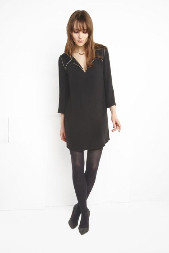 La mode des robes de france robe noire comptoir des cotonniers 2013 - Robe comptoire des cotonniers ...