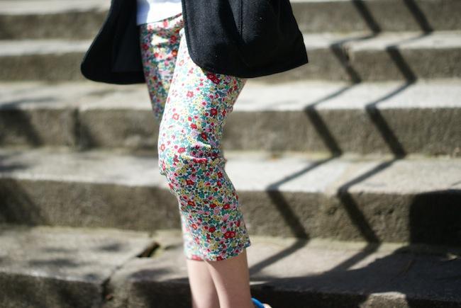 pantalon a fleurs