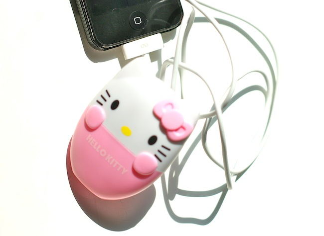 chargeur iphone hello kitty