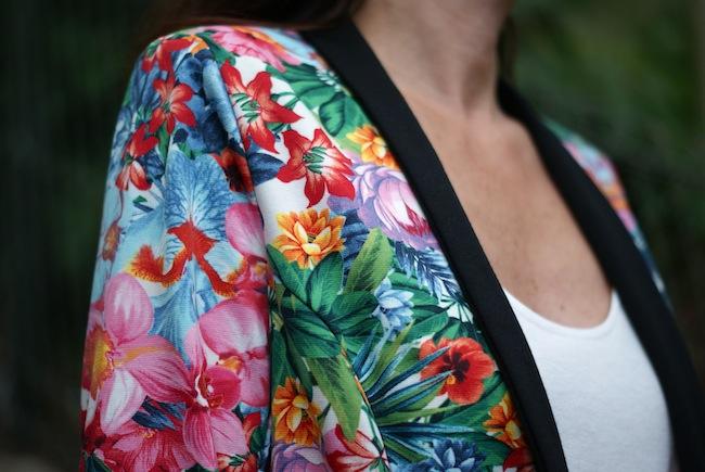 veste morgan fleurs