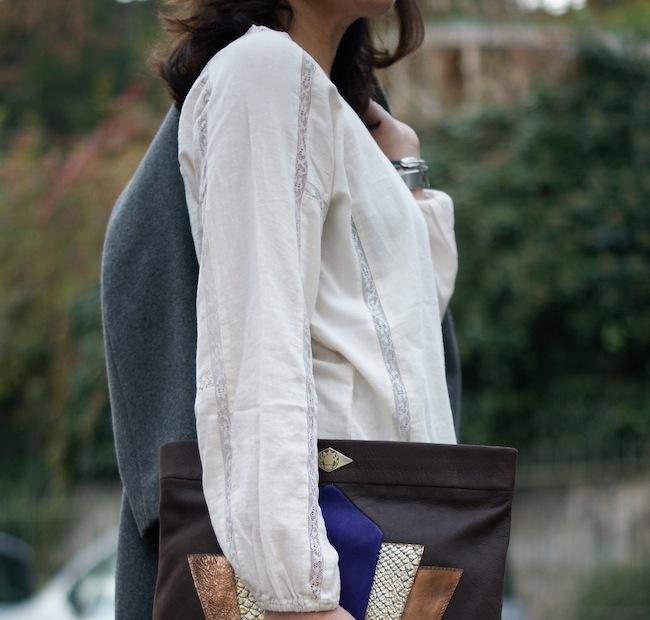 soft grey blouse