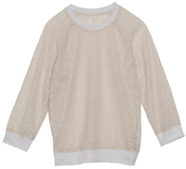 sweat dentelle roseanna monoprix