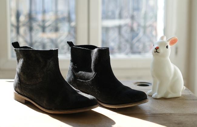 boots qui brillent