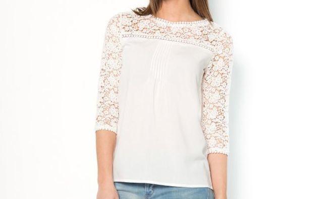 blouse dentelle soft grey