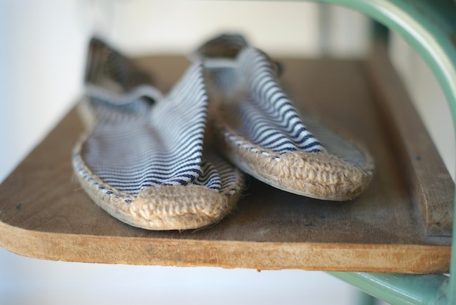 espadrilles rayees