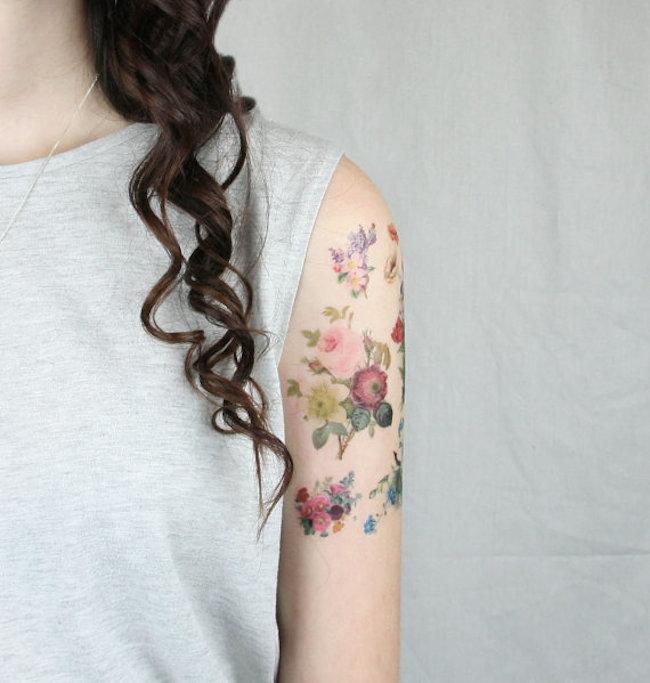 faux tatoos fleurs