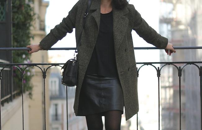 manteau kaki