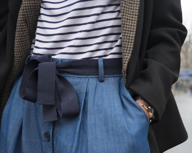 jupe chambray