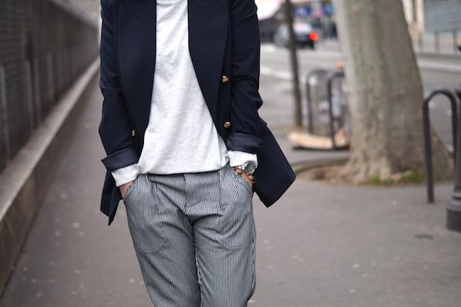 pantalon raye
