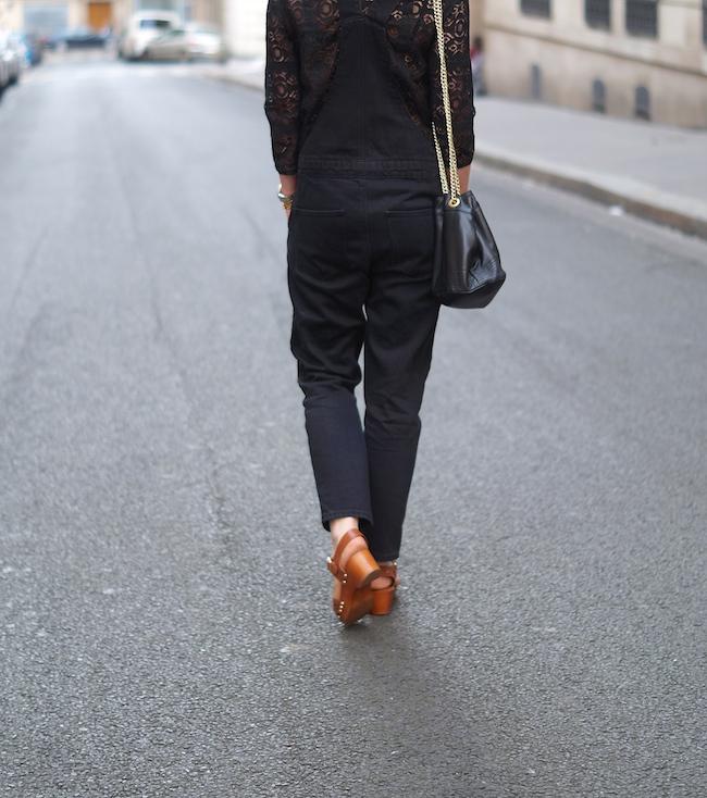 salopette jean noir