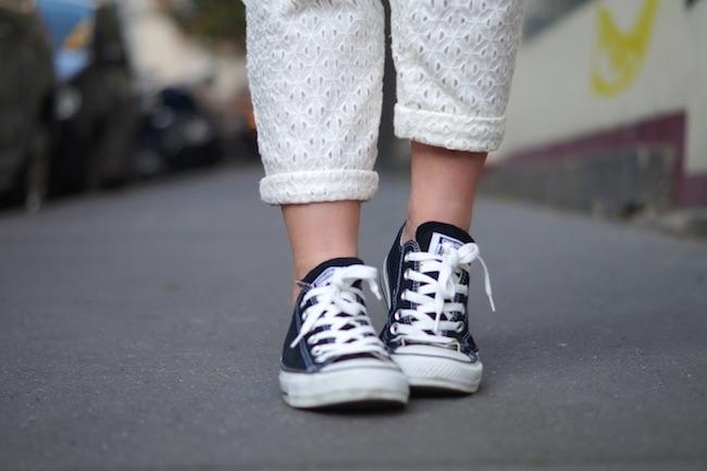 pantalon dentelle converse