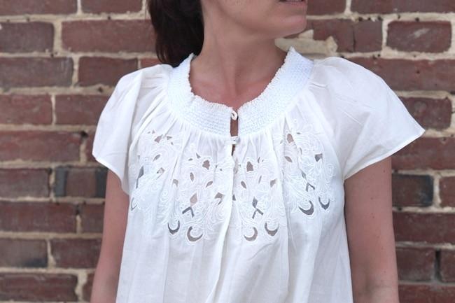blouse dentelle