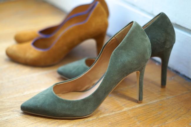 escarpins kaki