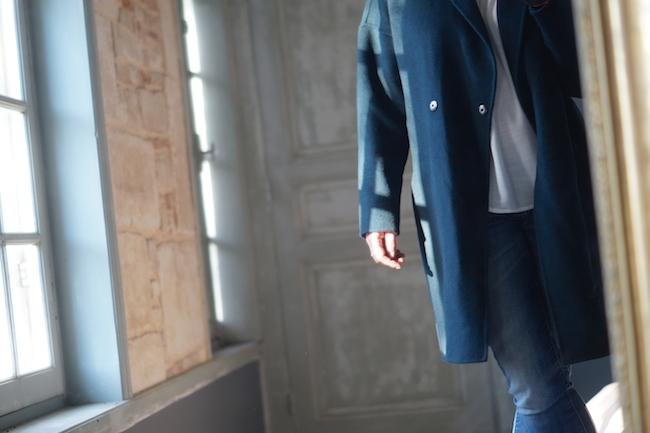 manteau vert comptoir des cotonniers