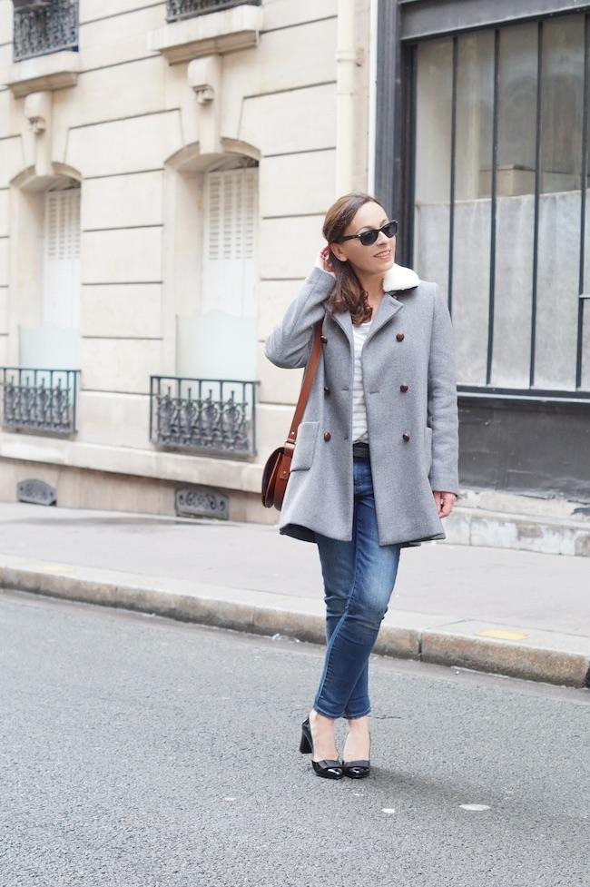 manteau gris sezane