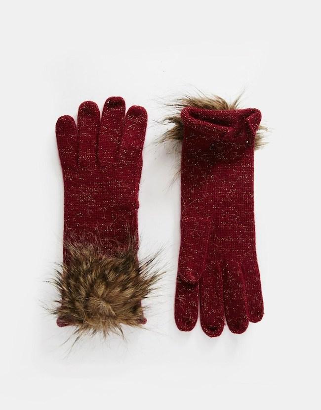 fourrure gants