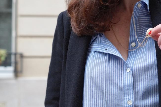 chemise rayee bleue