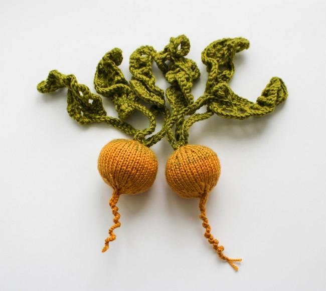 des legumes en tricot pour faire une soupe de laine