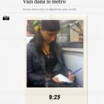 Vazi dans le métro