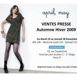Vente presse April May