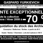 Gaspard Yurkievich : -70% sur tout la collection automne/hiver