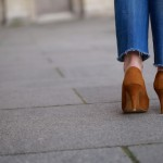 Fawn suede shoes